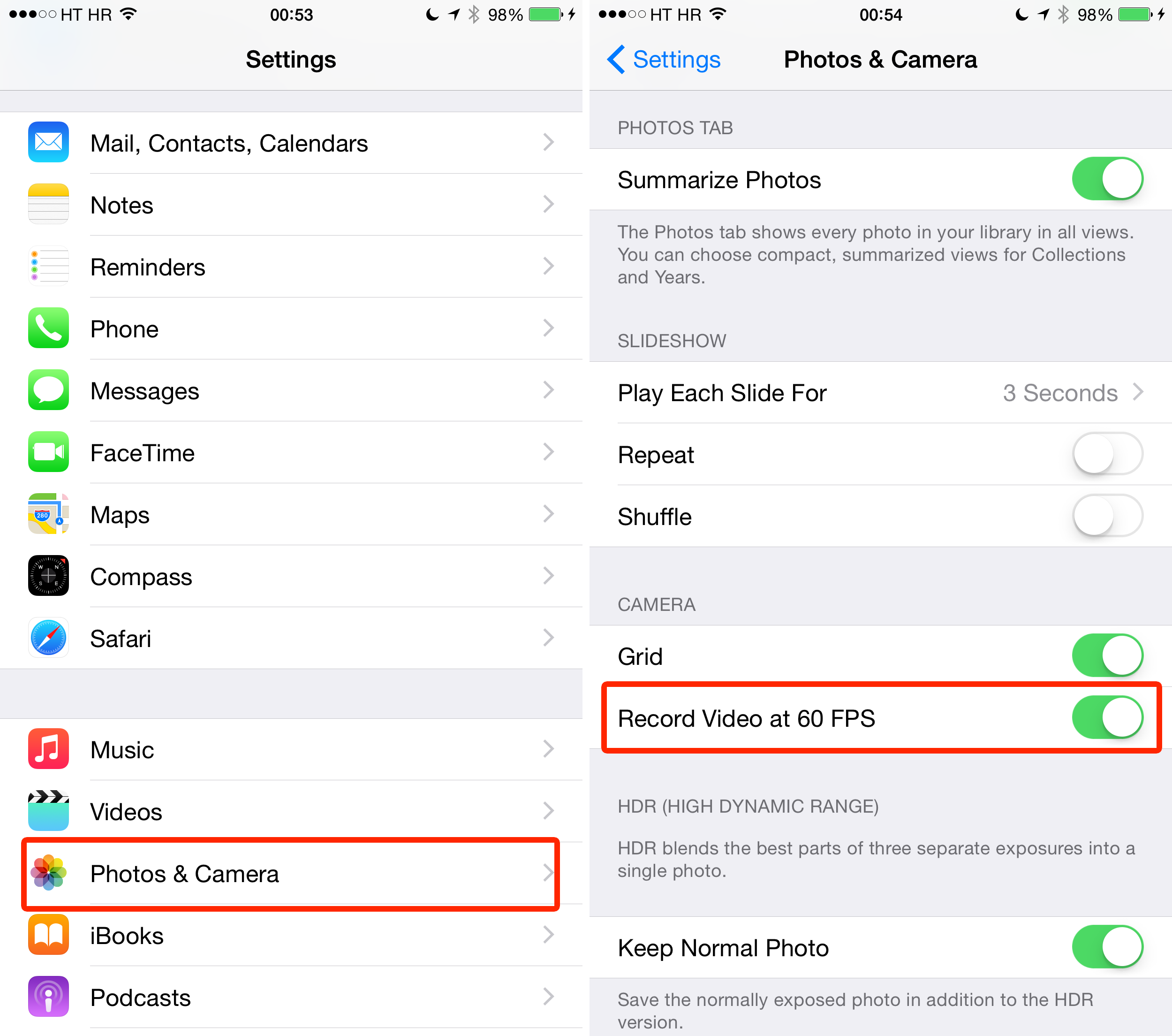 How to enable full 60 FPS video recording on iPhone 6 and ...