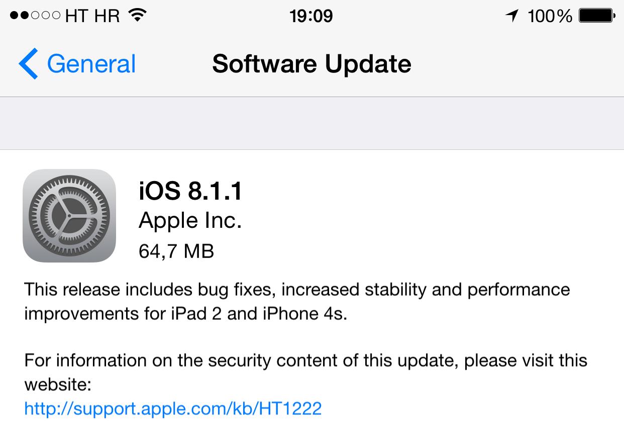 iOS 8.1.1 prompt