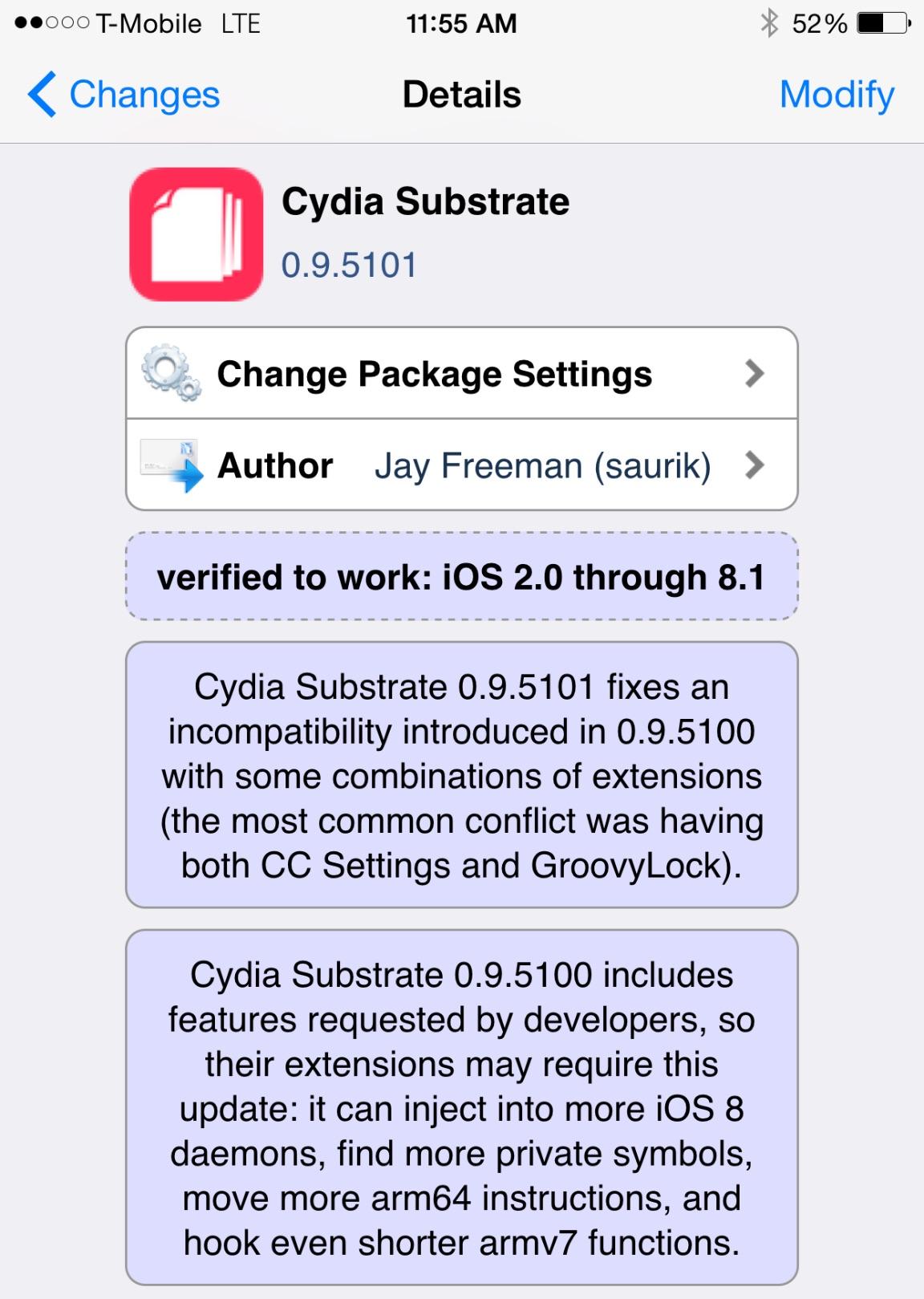 Cydia Substrate 0.9.5100