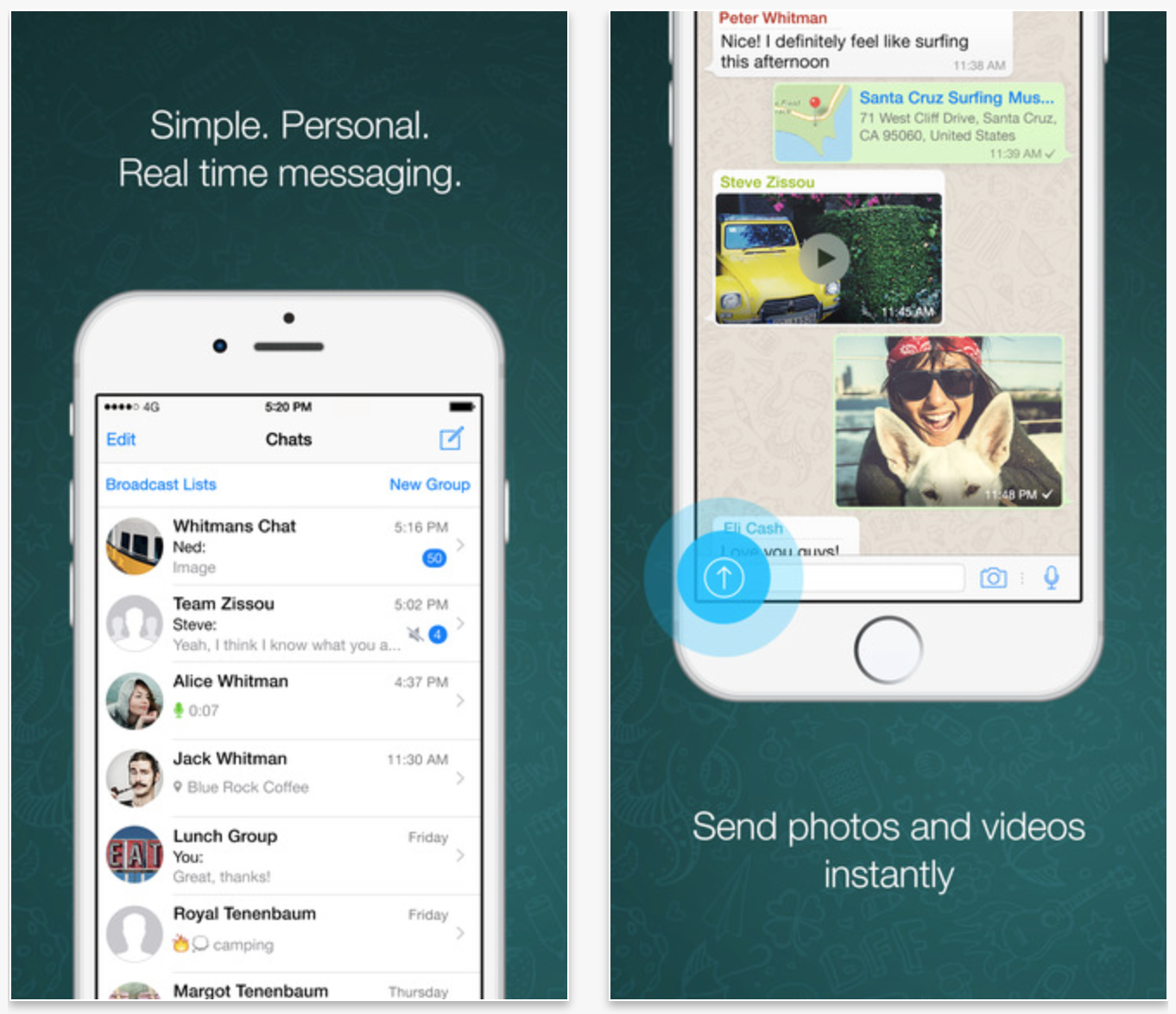 WhatsApp updated with support for iPhone 6 and 6 Plus