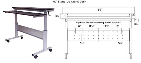 60 inch standing desk