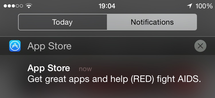 App Store RED notification 002