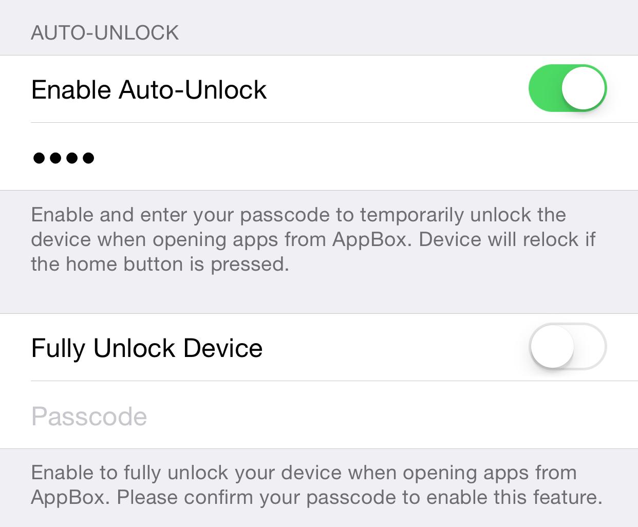 AppBox Auto-Unlock