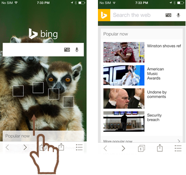 Bing 5.1 for iOS iPhone screenshot