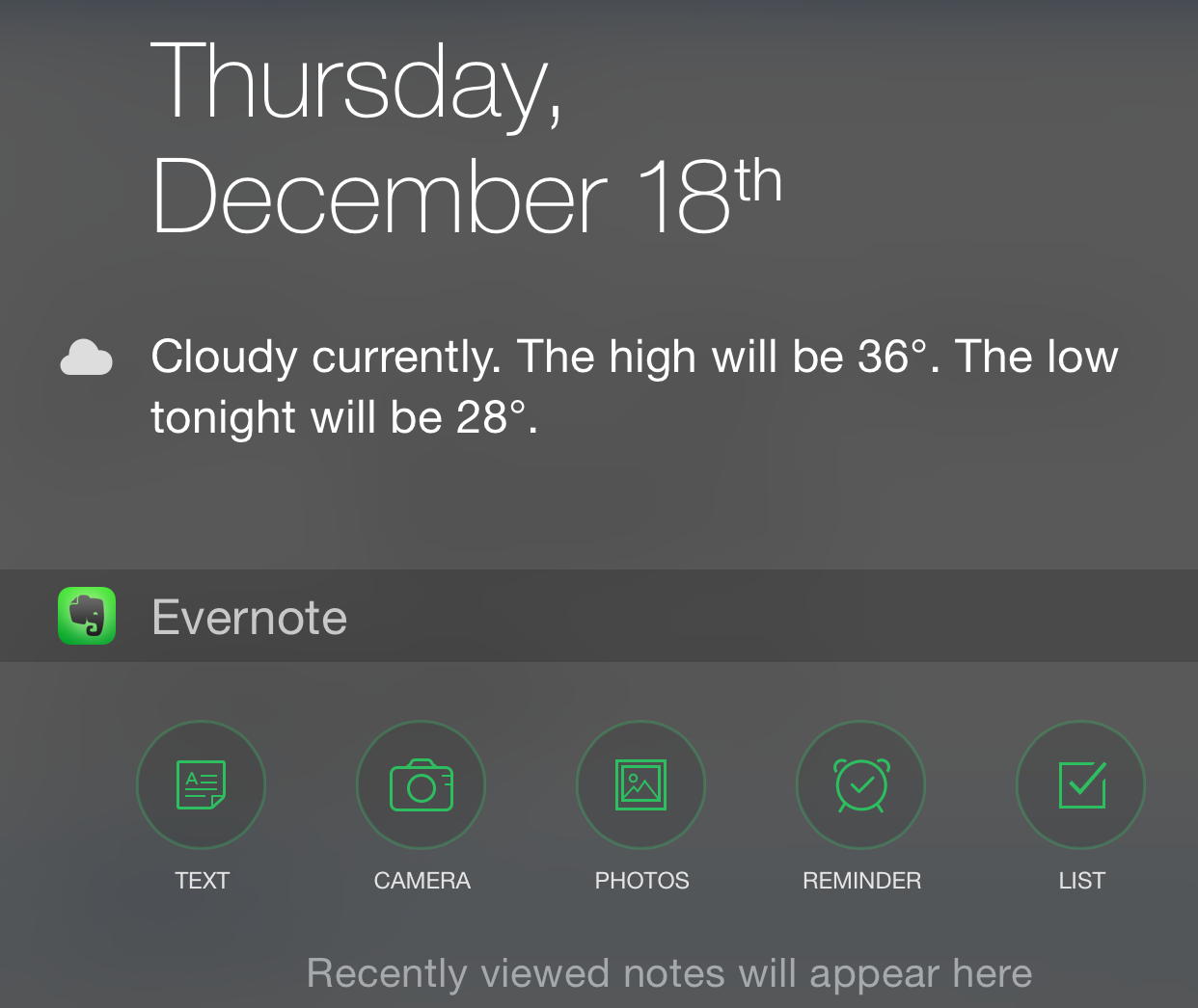 Evernote notification center