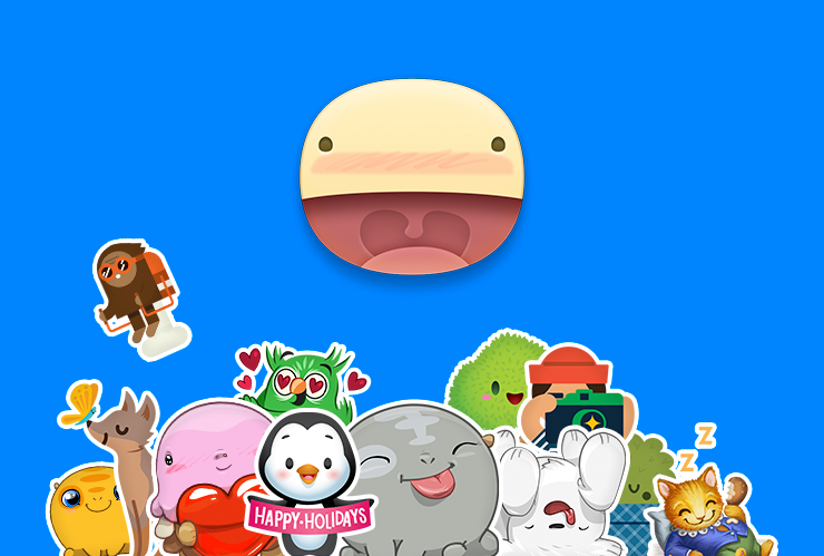 Facebook Messenger 2014 Holiday stickers 002