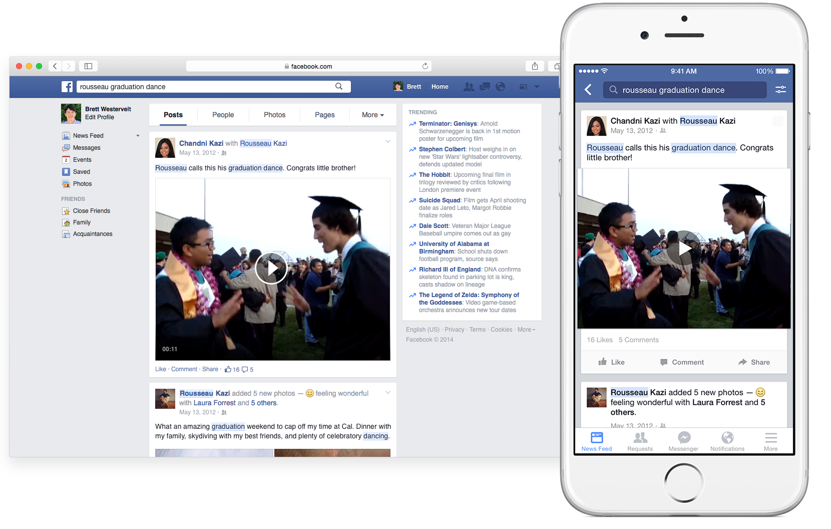 Facebook for iOS (Graph Search teaser 002)