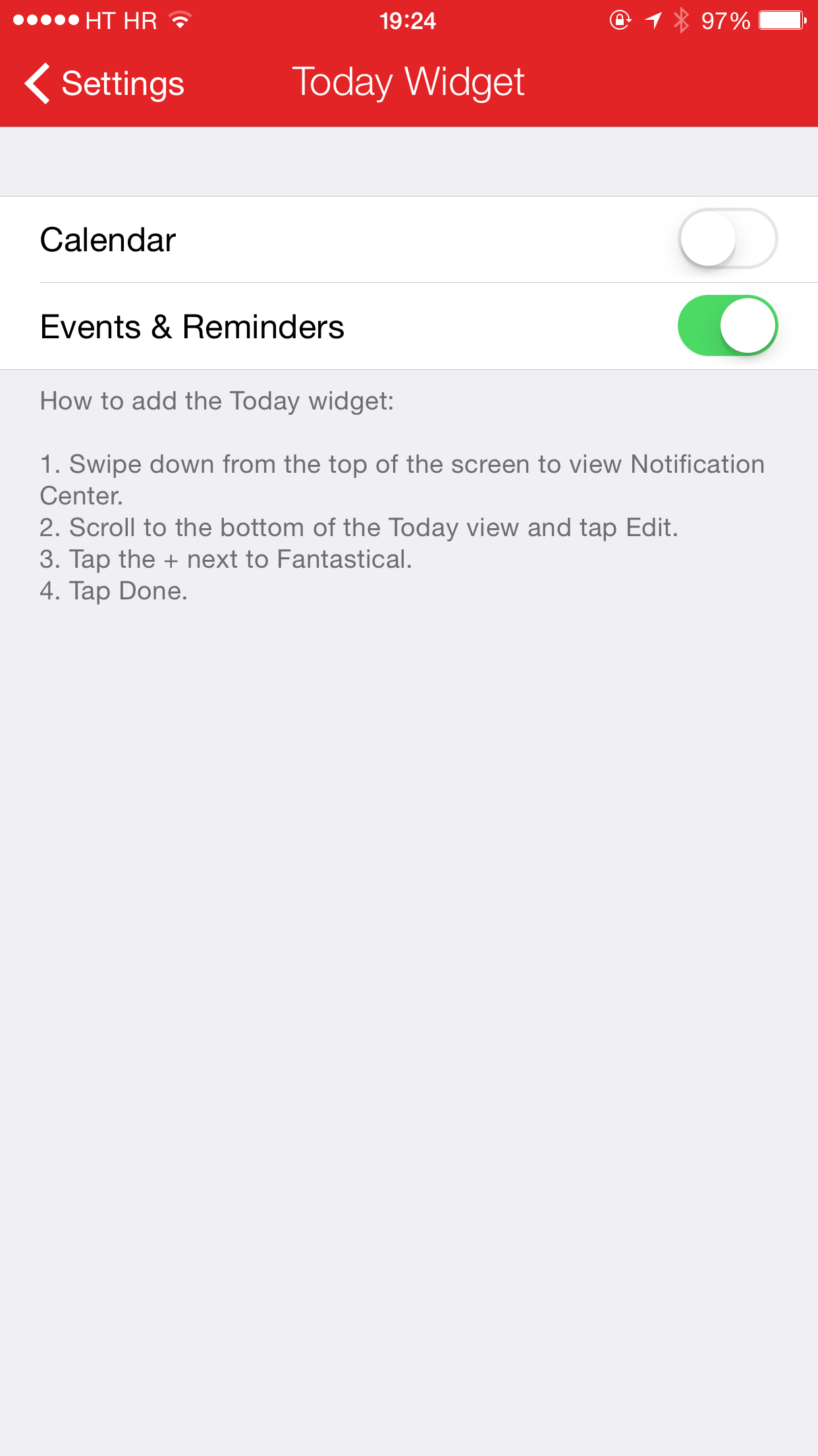 Fantastical 2.2.2 for iPhone (screenshot 001)