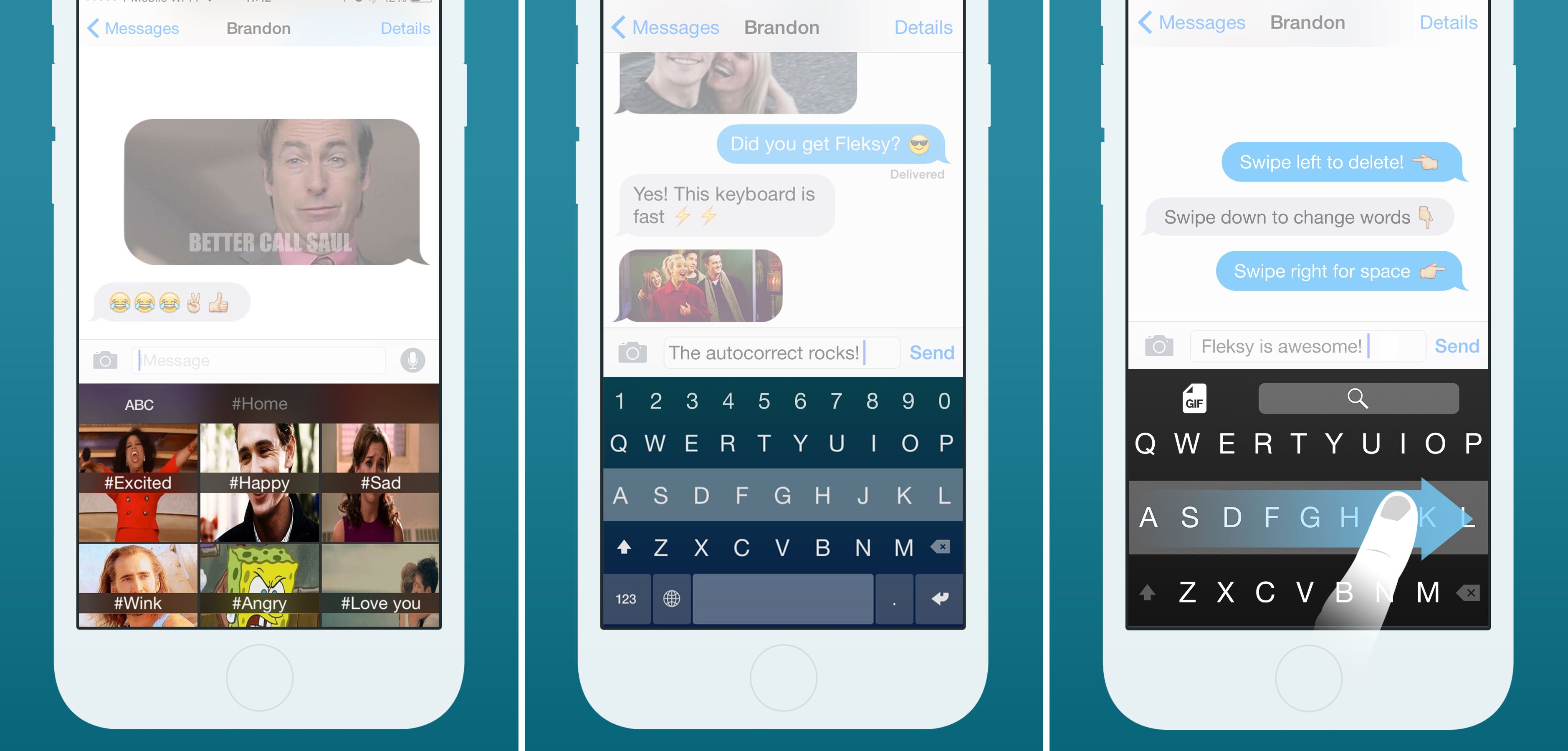 Fleksy Keyboard 5.0 for iOS iPhone screenshot 001