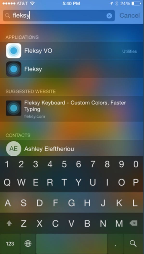 Flesky 5.0 for iOS (Translucent theme iPhone screenshot
