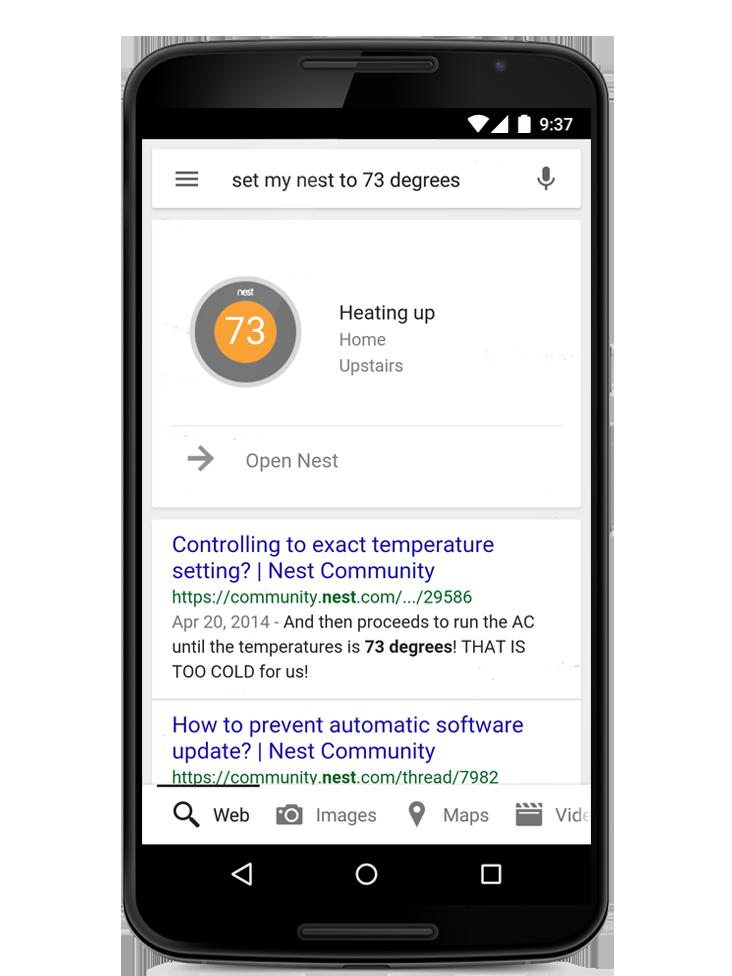Google 5.0 para Android (integración Nest)