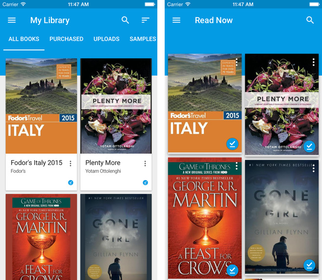 Google Play Books 2.0 for iOS (iPhone screenshot 001)