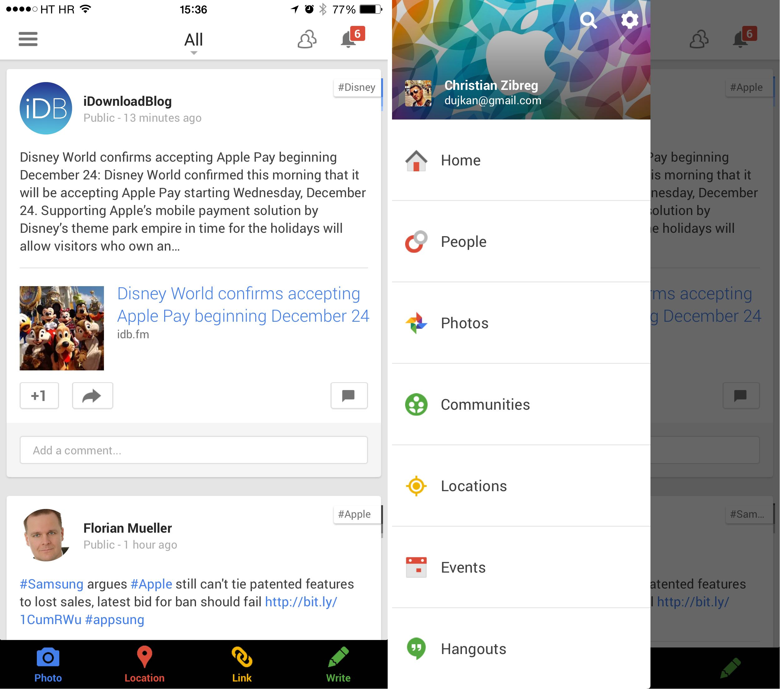 Google Plus 4.8 for iOS iPhone screenshnot 001