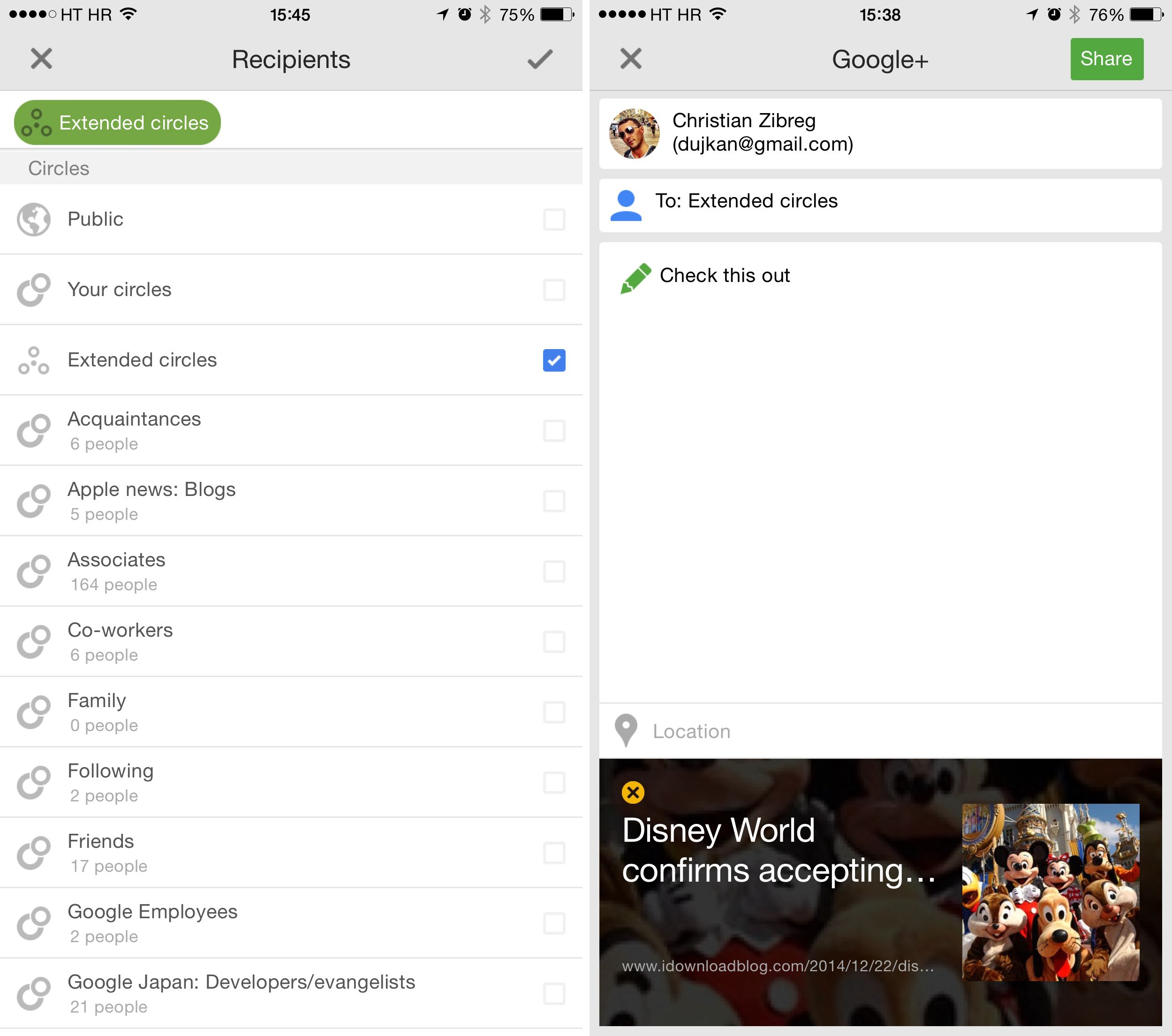 Google Plus 4.8 for iOS iPhone screenshnot 003