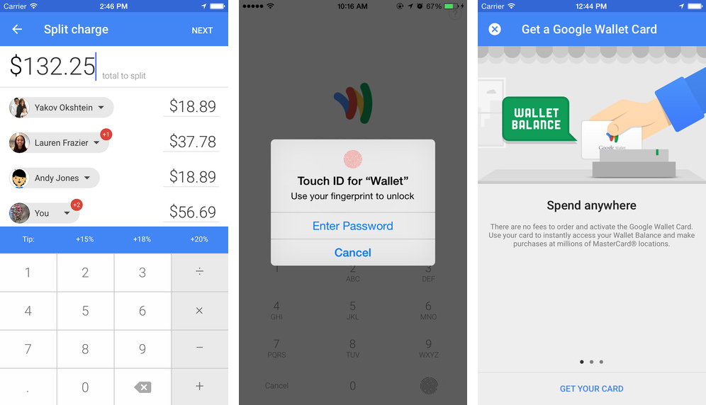 Google Wallet 8.174.19 para iOS (captura de pantalla 001 de iPhone)