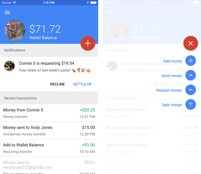 Google Wallet 8.174.19 for iOS (iPhone screenshot 002)