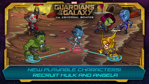Guardians of the Galaxy - The Universal Weapon 1.0 for iOS (iPhone screenshot)