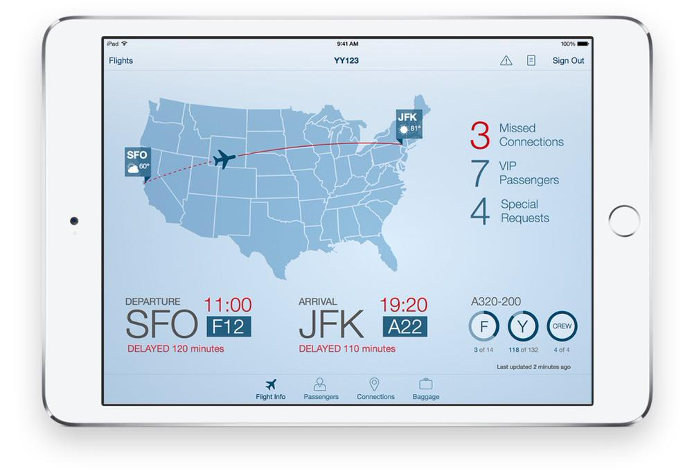 IBM-Apple apps Passenger Plus screenshot