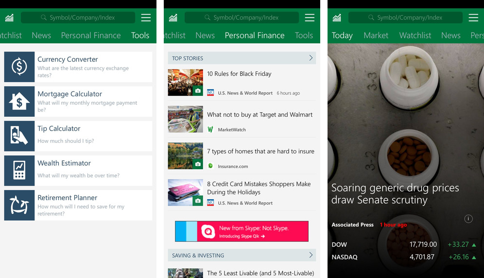Microsoft releases MSN-branded News, Money, Sports, Health & Fitness