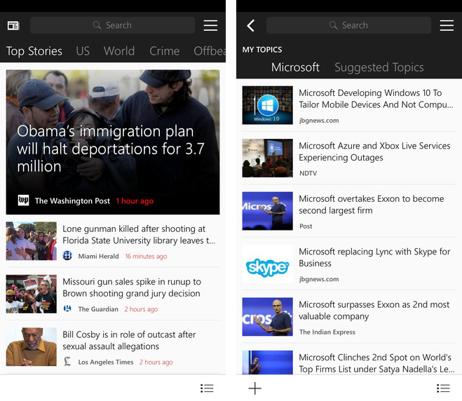 MSN News 1.0 for iOS iPhone screenshot 001