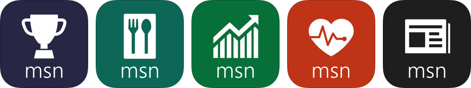 Microsoft MSN branded iOS app icons