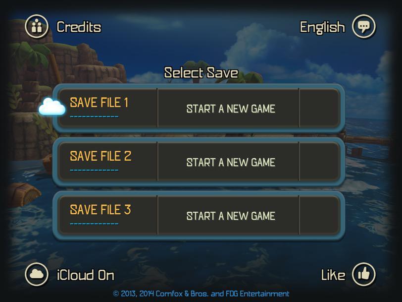 Oceanhorn iCloud save detected