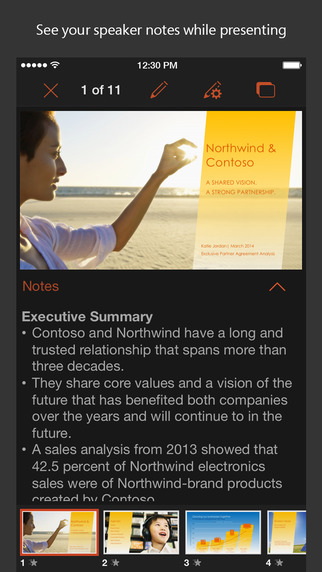 PowerPoint 1.4 para iOS (captura de pantalla de iPhone 001)