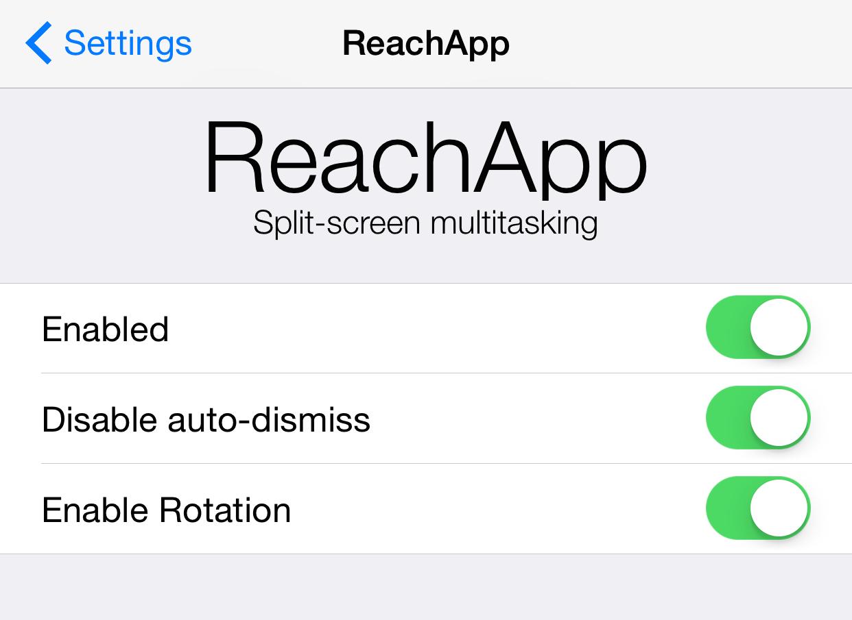 ReachApp Preferences