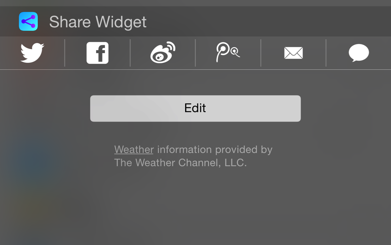 Share Widget iOS 8