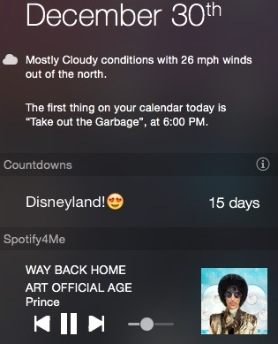 Spotify4Me, the Spotify Notification Center widget for Mac