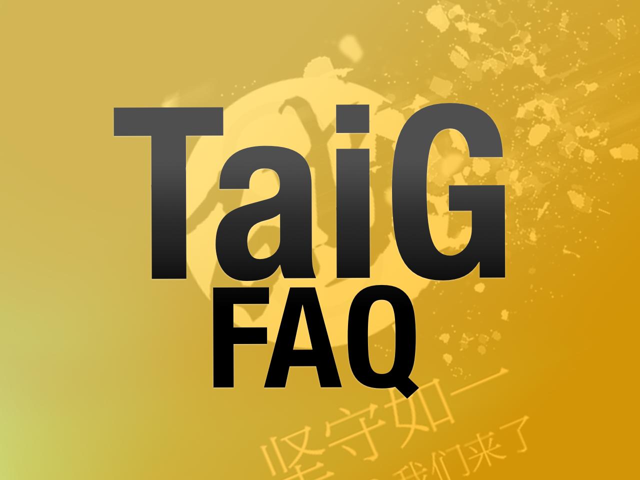 Taig FAQ
