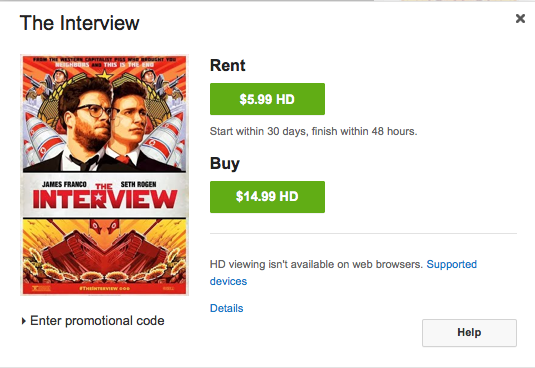The Interview rent