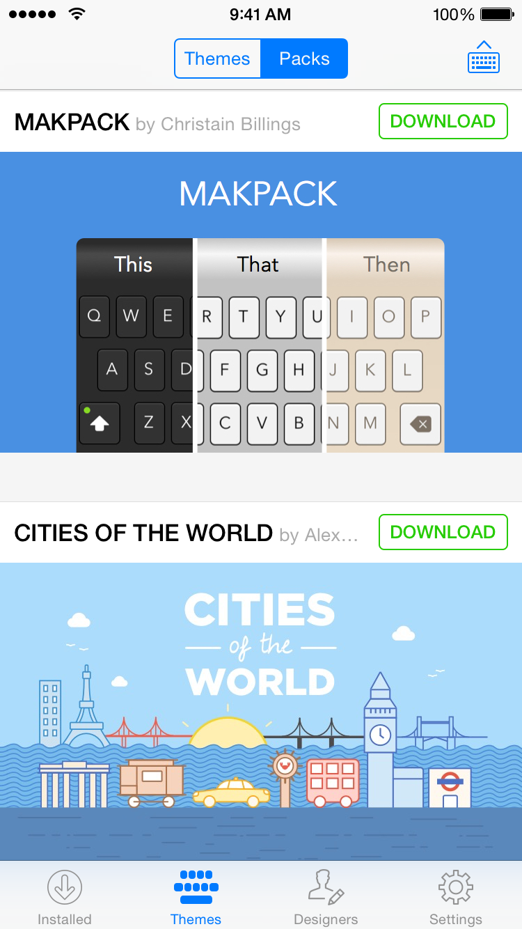 Themeboard 1.0 for iOS (iPhone screenshot 001)