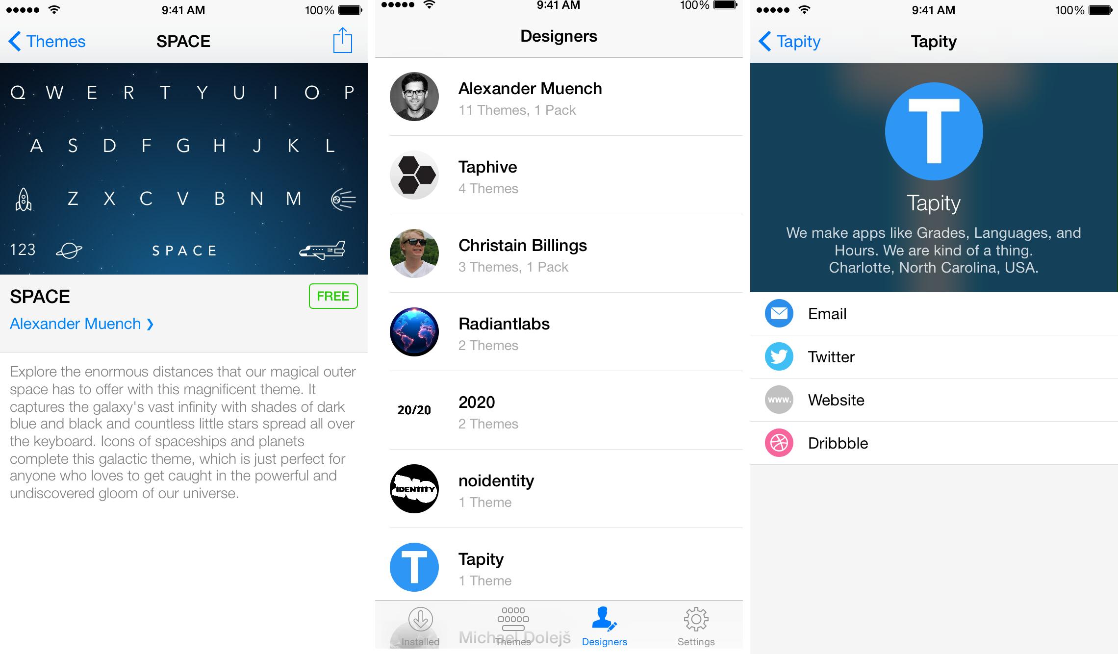 Themeboard 1.0 para iOS (captura de pantalla 002 de iPhone)