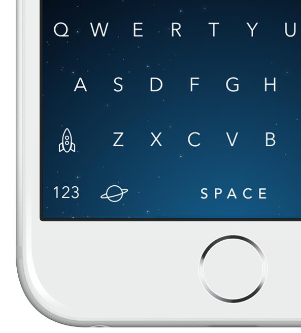 Themeboard 1.0 para iOS (muestra de teclado 007)