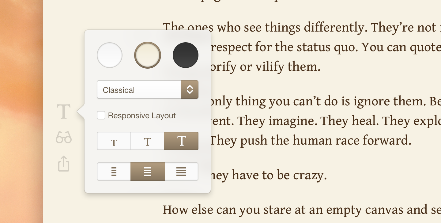 Type for Mac (Interface, screenshot 002)