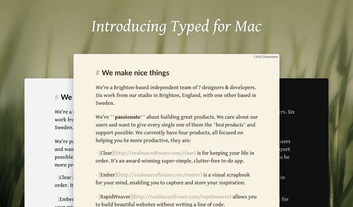 Type for Mac (Teaser 001)
