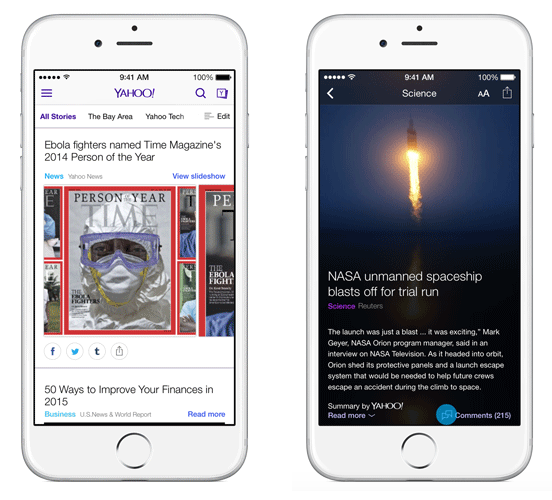 Yahoo's Search IOS App Gains Comments, Local News And