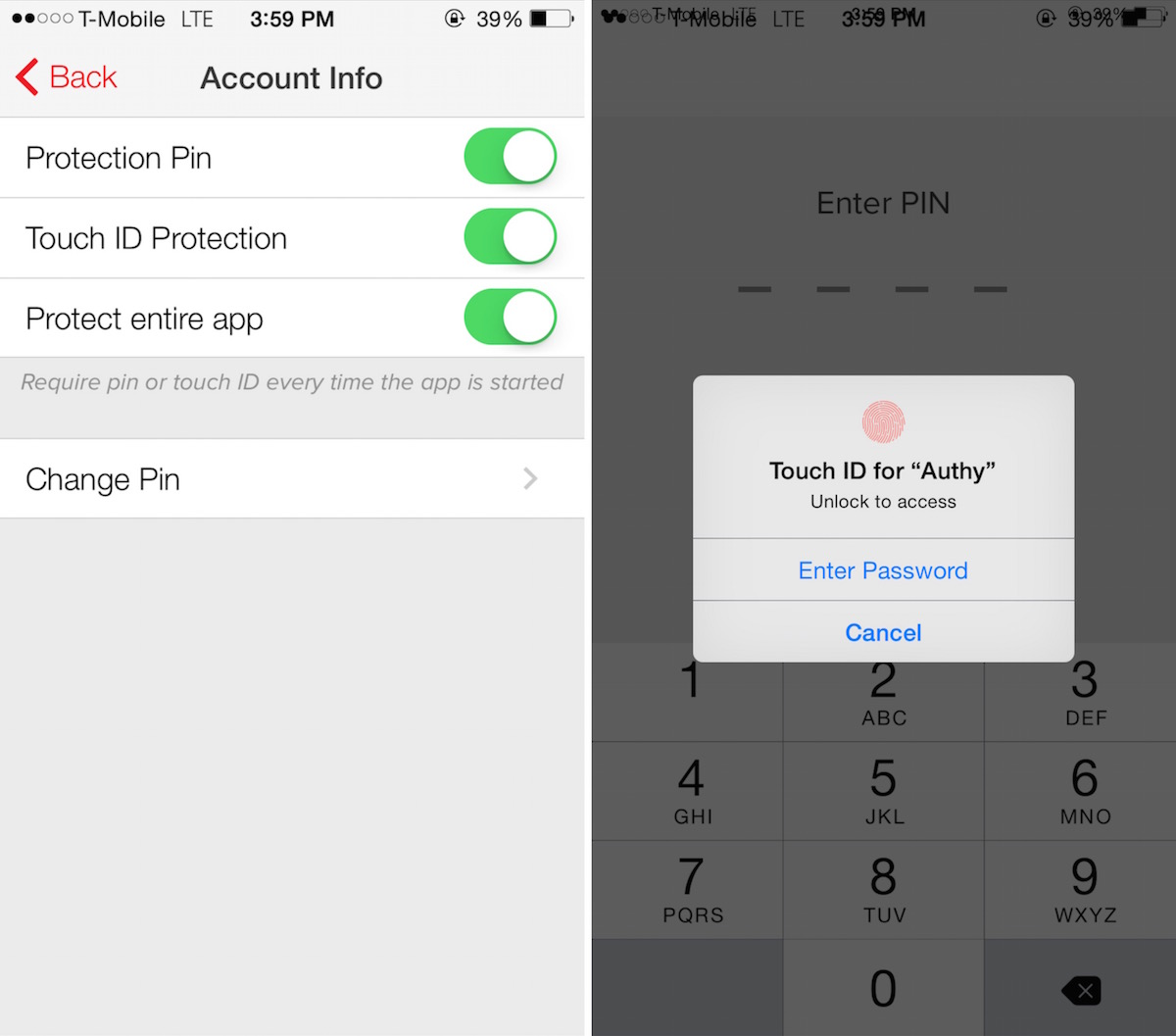 authy Touch ID