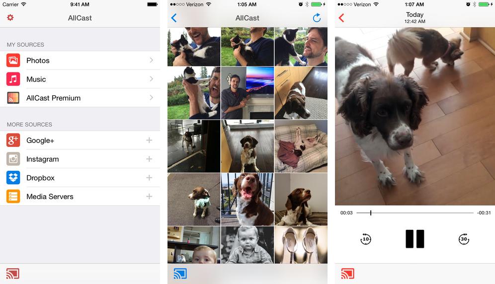Captura de pantalla 001 de AllCast 1.0 para iOS iPhone