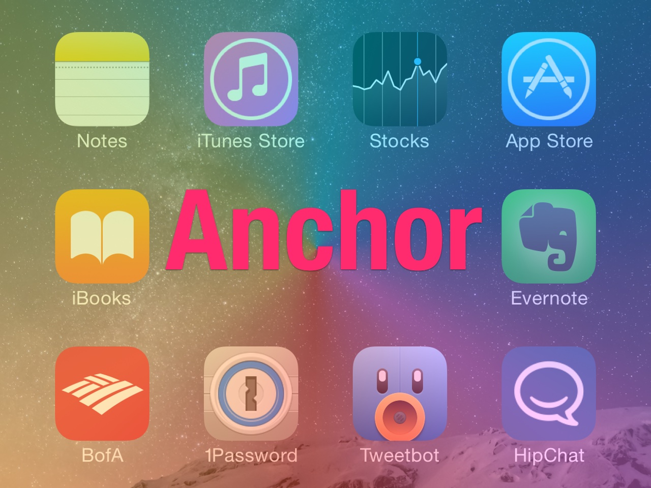 Anchor lets you place spaces between Home screen app icons