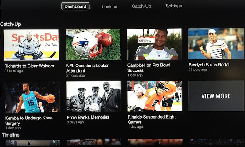Apple TV Sports Illustrated 120 Sports Home menu