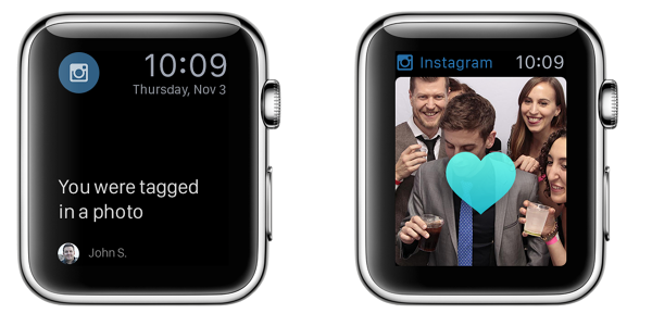 Apple Watch app concept Instagram