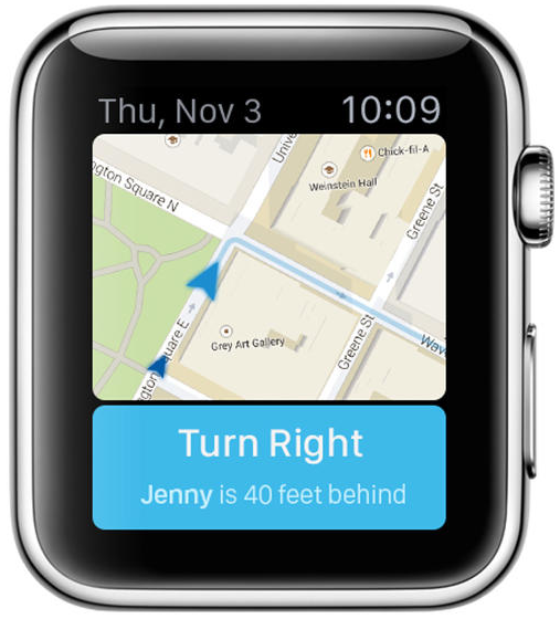Apple Watch app concept Navigation