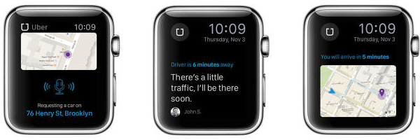 Apple Watch app concept Uber