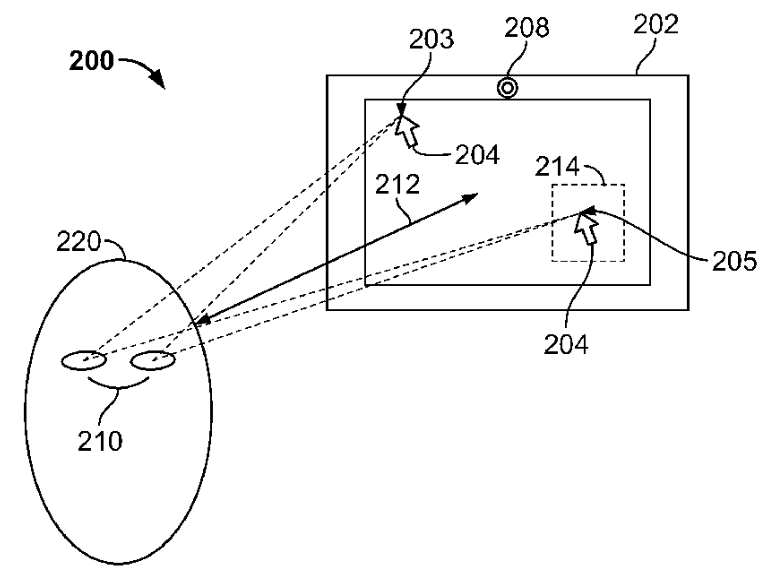 Apple patent gaze control