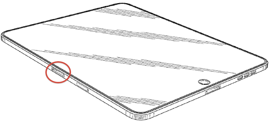 Apple patent horizontal iPad docking 001
