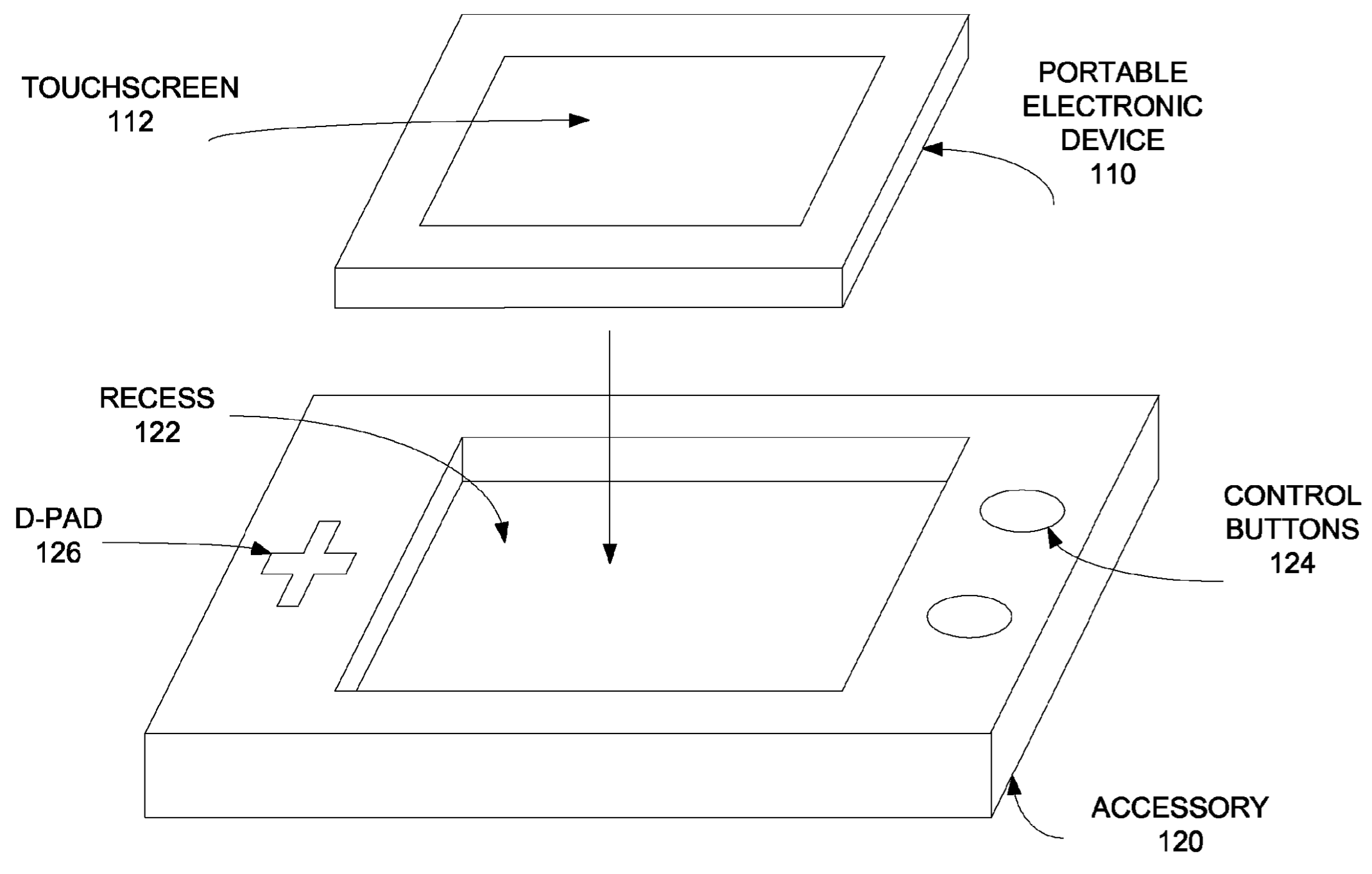 Apple patent snap-on iPhone gaming accessor 001