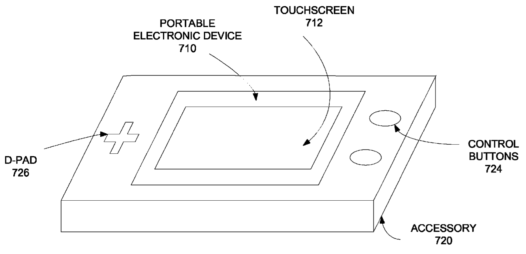 Apple patent snap-on iPhone gaming accessor 005