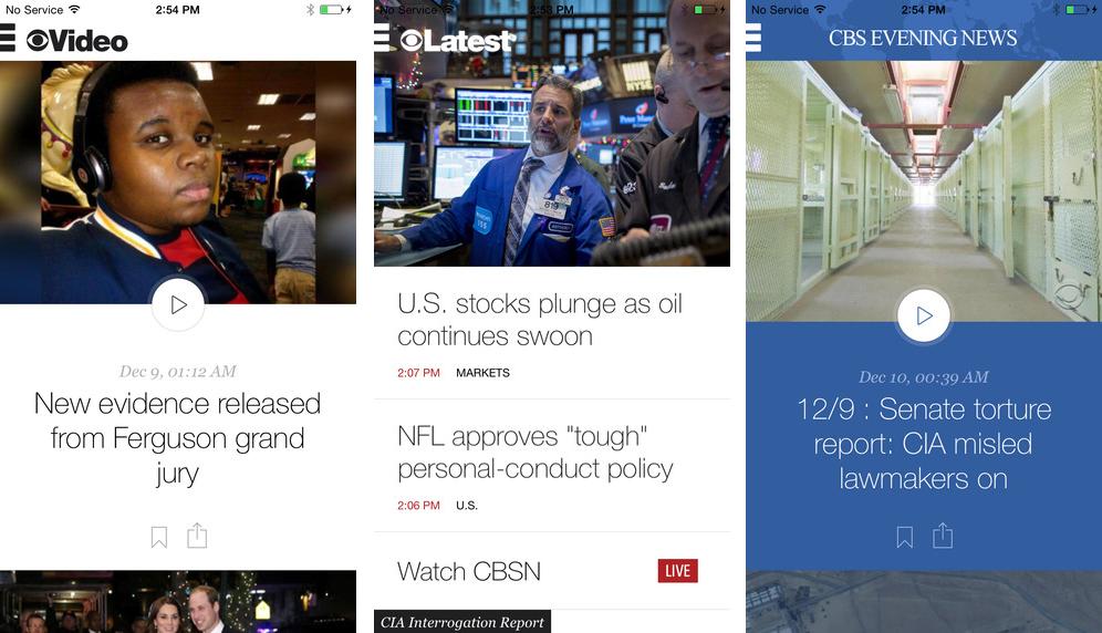 CBS News 3.0 for ios iPhone screenshot 001
